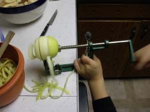 Automatic apple slicer thingy