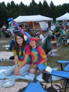 Gwen and Dylan enjoying the festival.